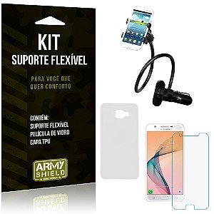 Kit Suporte Flexível Samsung Galaxy J5 Prime Suporte + Película + Capa - Armyshield