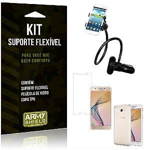 Kit Suporte Flexível Samsung Galaxy J7 Prime Suporte + Película + Capa - Armyshield