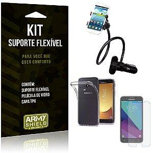 Kit Suporte Flexível Samsung Galaxy J7 Pro (2017) Suporte + Película + Capa - Armyshield