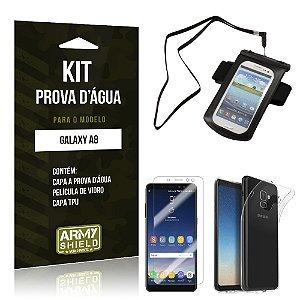 Kit Capa à Prova D'água Galaxy A8 Prova Dágua + Película + Capa - Armyshield