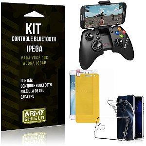 Kit Controle Bluetooth Asus Zenfone 3 - 5.2' ZE520KL Controle + Película + Capa - Armyshield