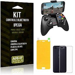 Kit Controle Bluetooth Asus Zenfone 4 - 5.5' ZE554KL Controle + Película + Capa - Armyshield