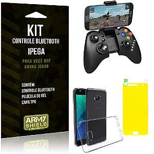 Kit Controle Bluetooth Asus Zenfone 4 Selfie - 5.5' ZD553KL Controle + Película + Capa - Armyshield
