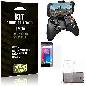 Kit Controle Bluetooth Lenovo K6 Controle + Película + Capa - Armyshield