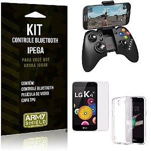 Kit Controle Bluetooth LG K4 Controle + Película + Capa - Armyshield