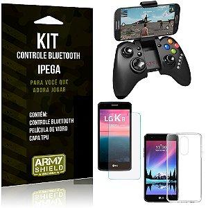 Kit Controle Bluetooth LG K8 Novo (2017) Controle + Película + Capa - Armyshield