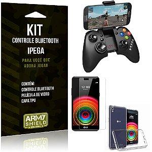 Kit Controle Bluetooth LG X Power Controle + Película + Capa - Armyshield