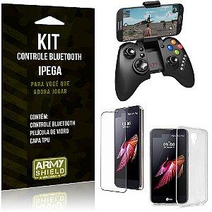 Kit Controle Bluetooth LG X Screen Controle + Película + Capa - Armyshield