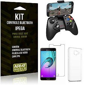 Kit Controle Bluetooth Samsung Galaxy A5 (2016) Controle + Película + Capa - Armyshield