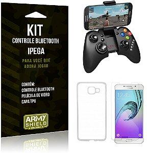 Kit Controle Bluetooth Samsung Galaxy A7 (2016) Controle + Película + Capa - Armyshield