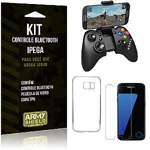 Kit Controle Bluetooth Samsung Galaxy S7 Controle + Película + Capa - Armyshield