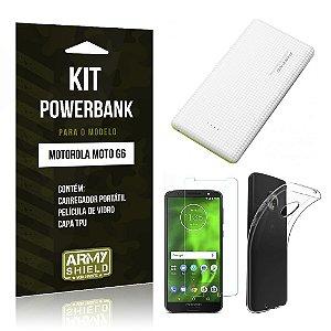 Kit Powerbank Tipo C Motorola Moto G6 Powerbank + Película + Capa - Armyshield