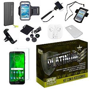 Kit Platinum Motorola Moto G6 Play com 9 Acessórios - Armyshield