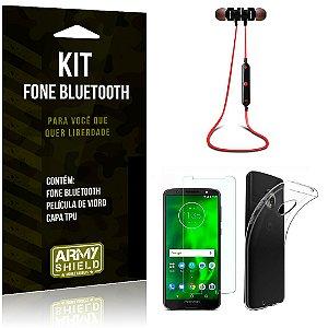 Kit Fone Bluetooth KD901 Motorola Moto G6 Play Fone + Película + Capa - Armyshield