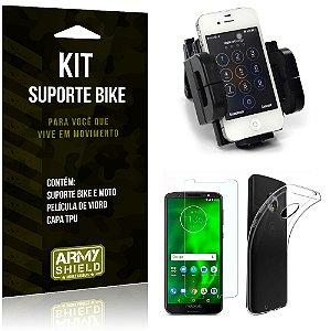 Kit Suporte Moto Bike Motorola Moto G6 Play Suporte + Película + Capa - Armyshield