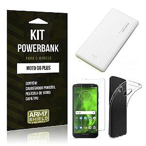 Kit Powerbank Tipo C Motorola Moto G6 Plus Powerbank + Película + Capa - Armyshield