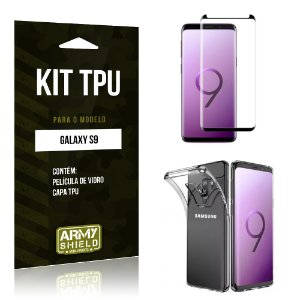 Kit Capa Silicone Galaxy S9 Película + Capa - Armyshield