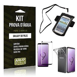 Kit Capa à Prova D'água Galaxy S9 Plus Prova Dágua + Película + Capa - Armyshield