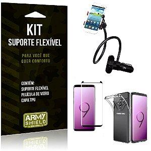 Kit Suporte Flexível Galaxy S9 Plus Suporte + Película + Capa - Armyshield