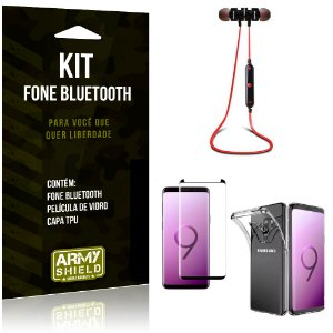 Kit Fone Bluetooth KD901 Galaxy S9 Plus Fone + Película + Capa - Armyshield
