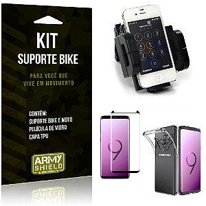 Kit Suporte Moto Bike Galaxy S9 Plus Suporte + Película + Capa - Armyshield