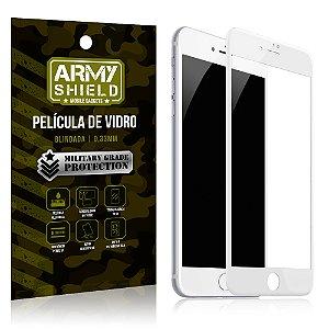 Película de Vidro Cobre a Tela Toda Apple iPhone 8 Plus Premium - Branco - Armyshield