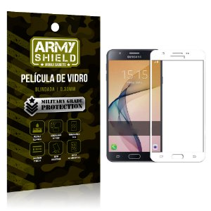 Película de Vidro Cobre a Tela Toda Samsung Galaxy J7 Prime Premium - Branco - Armyshield