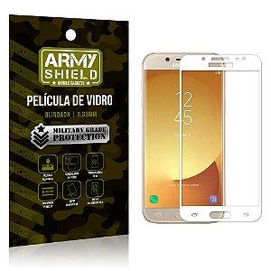 Película de Vidro Cobre a Tela Toda Samsung Galaxy J7 Pro (2017) Premium - Branco - Armyshield