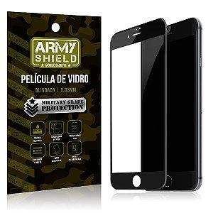 Película de Vidro Cobre a Tela Toda Apple iPhone 7 Premium - Preto - Armyshield