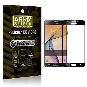 Película de Vidro Cobre a Tela Toda Samsung Galaxy J7 Prime Premium - Preto - Armyshield