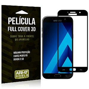 Película de Vidro Cobre a Tela Toda Samsung Galaxy A5 2017 Premium - Preto - Armyshield