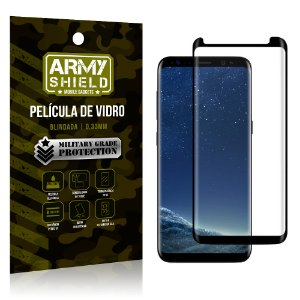 Película de Vidro Cobre a Tela Toda Samsung Galaxy S8 Premium - Preto - Armyshield