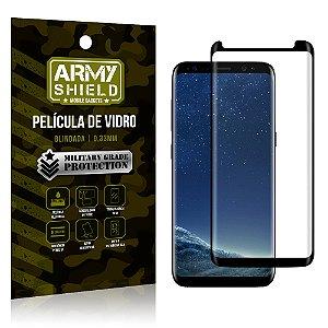 Película de Vidro Cobre a Tela Toda Samsung Galaxy S8 Plus Premium - Preto - Armyshield
