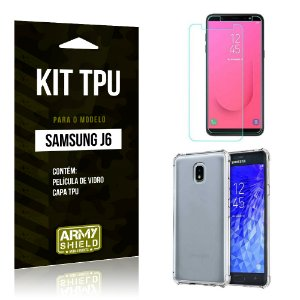 Kit TPU Capa + Película Samsung J6 2018 - Armyshield