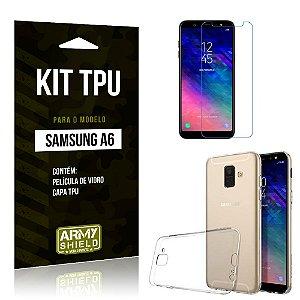 Kit TPU Capa + Película Samsung A6 - Armyshield