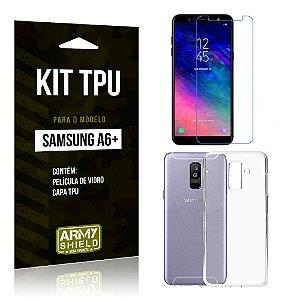 Kit TPU Capa + Película Samsung A6 Plus - Armyshield