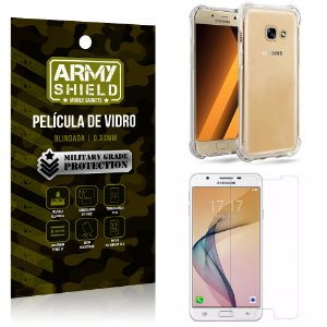 Kit Capa Anti Shock + Película de Vidro Samsung Galaxy J5 prime - Armyshield