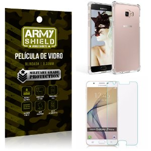 Kit Capa Anti Shock + Película de Vidro Samsung Galaxy J7 prime - Armyshield