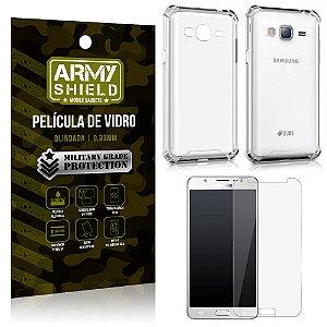 Kit Capa Anti Shock + Película de Vidro Samsung Galaxy J7/2016 - Armyshield