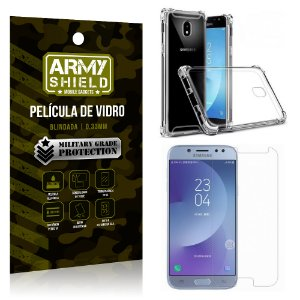 Kit Capa Anti Shock + Película de Vidro Samsung Galaxy J7 PRO - Armyshield