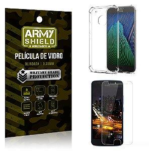 Kit Capa Anti Shock + Película de Vidro Motorola Moto G5S PLUS - Armyshield