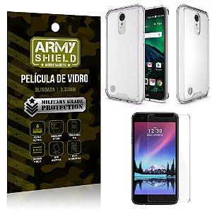 Kit Capa Anti Shock + Película de Vidro LG K8 2017 - Armyshield