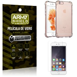 Kit Capa Anti Shock + Película de Vidro iPhone 6G plus - Armyshield