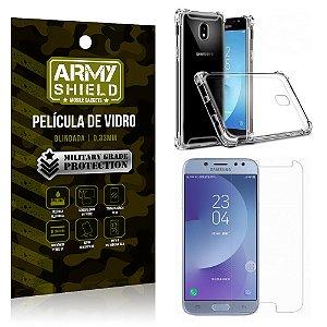 Kit Capa Anti Impacto + Película de Vidro Samsung Galaxy J7 PRO - Armyshield