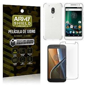 Kit Capa Anti Impacto + Película de Vidro Motorola Moto G4 Play - Armyshield