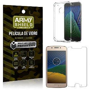 Kit Capa Anti Impacto + Película de Vidro Motorola Moto G5 - Armyshield