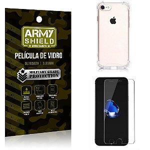 Kit Capa Anti Impacto + Película de Vidro iPhone 7G - Armyshield