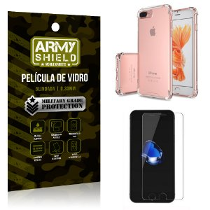Kit Capa Anti Impacto + Película de Vidro iPhone 7G PLUS - Armyshield