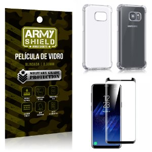 Kit Capa Anti Shock + Película Vidro Curva Premium Samsung Galaxy S8 - Armyshield
