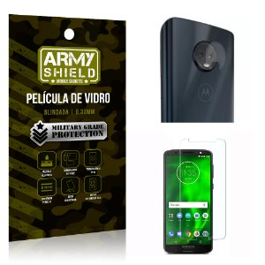 Kit Película de Lente Anti Risco + Película de Vidro Motorola Moto G6 Plus - Armyshield